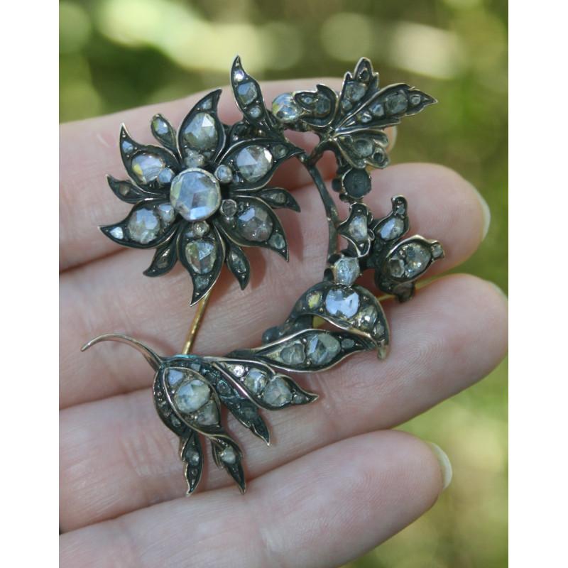 Broche ancienne en diamants
