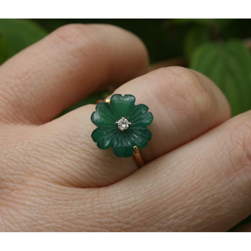 Bague fleur diamant