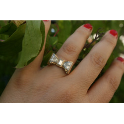Bague vintage diamants
