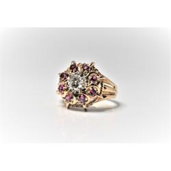 rétro gold ring