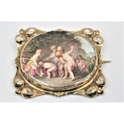 Broche miniature 19ème siècle