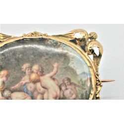 antique french brooch