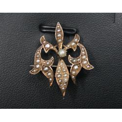 antique fleur de lis brooch