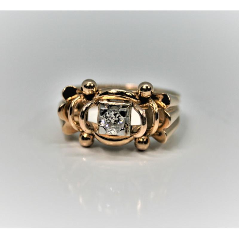 retro ring diamond