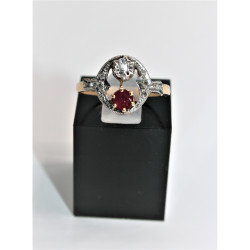 antique ruby and diamonds ring