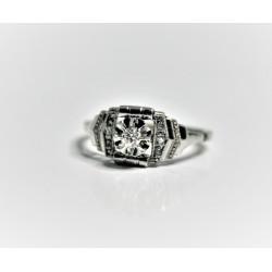 art déco diamond ring