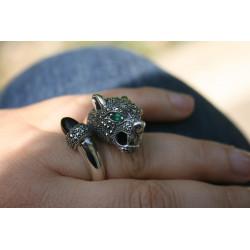 cocktail panther ring