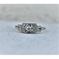 diamond art déco ring