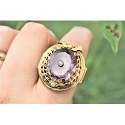 antique amethyst ring