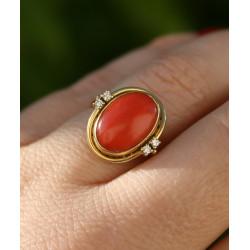Mediterranean coral ring
