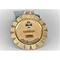 médaille d'amour or 18 carats