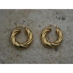 Créoles torsadées en or 18 carats