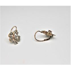boucles d'oreilles trèfles 19ème siècle