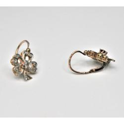 boucles d'oreilles vintages diamants
