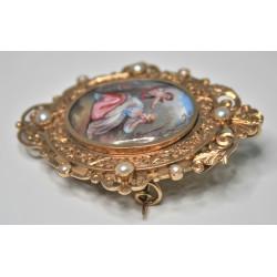 Broche pendentif Napoléon 3